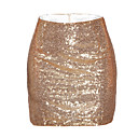 cheap Shaving & Hair Removal-Women's Bodycon Skirts - Solid Colored, Sequins