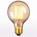 preiswerte Glühlampen-1pc 60 W E26 / E27 G80 Warmes Weiß 2300 k Retro / Dekorativ Glühbirne Vintage Edison Glühbirne 220-240 V