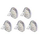 preiswerte LED Glühbirnen-3000 lm GU5.3(MR16) LED Spot Lampen MR16 15 LED-Perlen SMD 2835 Warmes Weiß 12 V / 5 Stück