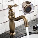 baratos Torneiras de Banheiro-torneira da pia do banheiro - único centro de cobre antigo único punho de um buraco torneiras de banho