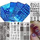 cheap Nail Stamping-1pcs new colorful image design nail stamping plate stainless steel polish diy fashion stamping plate nail tool manicure beauty stencils xy z01 10