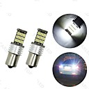 abordables Bombillas LED-4pcs BA15S (1156) Coche Bombillas 6 W SMD 4014 700 lm LED Luz de la cola For Universal