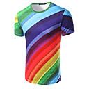 billige Vægklistermærker-Rund hals Herre Bomuld, Trykt mønster Aktiv T-shirt