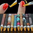 cheap Rhinestone & Decorations-1pcs rhinestones bead picker wax resin pencil nail art dotting tool point pen