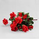 hesapli Suni Çiçek-Yapay Çiçekler 1 şube Modern Stil Açelya Masaüstü Çiçeği