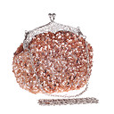 cheap Clutches & Evening Bags-Women's Bags Plastic Evening Bag Acrylic Jewels Dark Brown / Dark Red / Violet