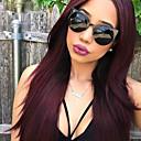 billige Syntetiske parykker uden hætte-Remy hår Blonde Front Paryk Lige 130% Massefylde 100 % håndbundet Afro-amerikansk paryk Natural Hairline Ombre-hår Kort Medium Lang Dame