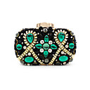 cheap Clutches & Evening Bags-Women's Bags Polyester Evening Bag Crystal / Rhinestone Green / White / Sky Blue