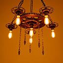 tanie Żyrandole-6 świateł Przemysłowy Lampy widzące Światło rozproszone Malowane wykończenia Metal Żywica Styl MIni 110-120V / 220-240V Nie zawiera żarówek / E26 / E27