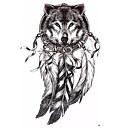 preiswerte Hülse Tätowierung-1 pcs Tattoo Aufkleber Temporary Tattoos Totem Serie / Tier Serie / Art Deco / Retro Wasserfest / 3D Körperkunst Gesicht / Hände / Bein