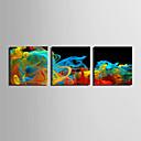 cheap Prints-Abstract Fantasy Modern, Three Panels Canvas Square Print Wall Decor Home Decoration