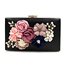 cheap Girls' Dresses-Women's Bags Polyester Evening Bag Imitation Pearl / Crystal / Rhinestone / Flower Light Gold / Wine / Pool