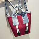 baratos Mochilas-Mulheres Bolsas Tela de pintura mochila Personagem Preto / Cinzento / Vermelho