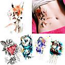 billige Midlertidige tatoveringer-5 pcs Tatoveringsklistremerker midlertidige Tatoveringer Totem Serier / Dyre Serier Vanntett / Ikke Giftig / Halloween kropps~~POS=TRUNC Krop / arm / skulder