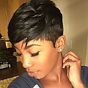 cheap Human Hair Capless Wigs-fluffy hot sale black short hair human hair wig