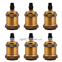 cheap Lighting Accessories-6 Pcs E26/ E27 Industrial Light Socket Vintage Edison Pendant Lamp Metal Holder Without Switch and Cord