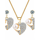 cheap Jewelry Sets-Women's Jewelry Set - Imitation Pearl, Rhinestone Heart Basic Include White For Wedding / Party / Special Occasion