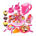 baratos Acessórios de Cozinha & Comida de Brinquedo-Conjuntos Toy Cozinha Comida de Brinquedo Brinquedos de Faz de Conta Bolo Cortadores de Bolos e Bolachas PVC Crianças Para Meninos Para Meninas Brinquedos Dom