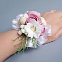 رخيصةأون أزهار الزفاف-زهور الزفاف باقات باقة ورد في رسغ أخرى أزهار اصطناعية زفاف حفل / مساء مادة دانتيل ستان 0-20cm