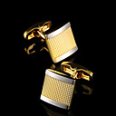 cheap Men's Accessories-Geometric Golden Cufflinks Copper Classic Fashion Gift Boxes & Bags Party Business / Ceremony / Wedding Men's Costume Jewelry