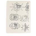 baratos Tinta para Tatuagem-Dragonhawk® tatuagem acessórios 10 x permanente maquiagem tatuagem prática skins fornecer crânio padrão