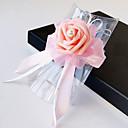 baratos Bouquets de Noiva-Bouquets de Noiva Forma-Livre Rosas Buquê de Pulso Casamento Festa / noite Cetim Enfeite