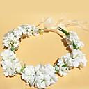 cheap Party Headpieces-Satin Headbands Flowers Wreaths 1 Wedding Outdoor Headpiece