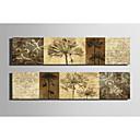 ieftine Imprimeuri-Imprimeu pânză întins Set Canava Botanic Două Panouri Imprimeu Decor de perete Pagina de decorare
