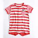 cheap Baby Girls' One-Piece-Baby Unisex Daily Striped One-Pieces, Cotton Summer Short Sleeves Red