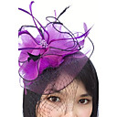 cheap Party Headpieces-Feather / Net Fascinators / Headwear / Birdcage Veils with Floral 1pc Wedding / Special Occasion Headpiece
