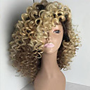 cheap Human Hair Wigs-Human Hair Glueless Full Lace / Full Lace Wig Kinky Curly Wig 150% Ombre Hair / Natural Hairline / African American Wig Ombre Women's Short / Medium Length / Long Human Hair Lace Wig / 100% Hand Tied