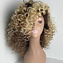 olcso Szintetikus parókák-Emberi haj Csipke korona, szőtt / Csipke Paróka Kinky Curly Paróka 150% Ombre haj / Természetes hajszálvonal / Afro-amerikai paróka Női Rövid / Közepes / Hosszú Emberi hajból készült parókák