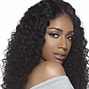 cheap Synthetic Capless Wigs-Synthetic Wig Curly Synthetic Hair Natural Hairline / Middle Part / African American Wig Black Wig Women's Medium Length Capless
