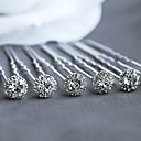 cheap Party Headpieces-Cubic Zirconia Headwear Hair Pin Hair Stick Hair Tool with Floral 1pc Wedding Special Occasion Casual Office & Career Outdoor Headpiece