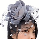 cheap Party Headpieces-Net / Satin Fascinators / Flowers / Birdcage Veils with 1 Wedding / Special Occasion / Casual Headpiece