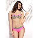 preiswerte Körperschmuck-Damen Hochgeschnitten Bikinis - Druck Halter / Push-Up / Gepolsterte BHs / Bügel-BH