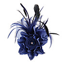 cheap Party Headpieces-Fabric Satin Fascinators Flowers Hair Tool 1 Wedding Special Occasion Outdoor Headpiece