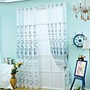 billige Gardiner ogdraperinger-Stanglomme Propp Topp Et panel Window Treatment Europeisk Neoklassisk, Broderi Stue Polyester Materiale Gardiner Skygge Hjem Dekor
