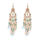 cheap Earrings-Women's Crystal Obsidian Drop Earrings - Crystal, Resin Tassel, Vintage, Euramerican Light Blue / Rainbow / Candy Pink For Wedding Party Daily