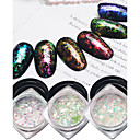 billige Negleklistremerker-6pcs Glitter & Poudre Glitters / Klassisk / Neon & Bright Daglig