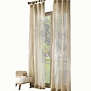 cheap Curtains Drapes-Sheer Curtains Shades Kids Room Solid Colored Linen Print