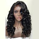olcso Emberi hajból készült parókák-Remy haj Csipke Paróka Brazil haj Hullámos Paróka 130% Természetes hajszálvonal / Afro-amerikai paróka / 100% kézi csomózású Női Rövid / Közepes / Hosszú Emberi hajból készült parókák
