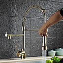 cheap Kitchen Faucets-Kitchen faucet - Contemporary Art Deco / Retro Modern Ti-PVD Pull-out / ­Pull-down Vessel