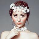 baratos Acessórios de Cabelo-Imitação de Pérola / Acrílico / Strass Tiaras / Headbands / Flores com 1 Casamento / Ocasião Especial / Casual Capacete