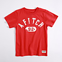 billige Mode Øreringe-Drenge T-shirt Daglig Ensfarvet, Bomuld Sommer Kortærmet Rød