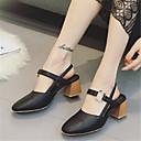 baratos Sandálias Femininas-Mulheres Sapatos Couro Envernizado Verão Conforto Sandálias Branco / Preto