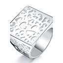 رخيصةأون قلادات-للمرأة خاتم - تصفيح بطلاء الفضة euramerican في 8 فضي من أجل يوميا