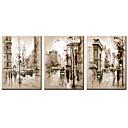 ieftine Imprimeuri-Imprimeu pânză întins Faimos Peisaje Abstracte Modern Realism, Trei Panouri pânză Orizontal Imprimeu Decor de perete Pagina de decorare