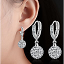 cheap Earrings-Women's AAA Cubic Zirconia Drop Earrings, Ball Earrings - Silver Plated Silver