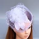 preiswerte Parykopfbedeckungen-Feder / Netz Fascinatoren / Blumen / Hüte mit 1 Hochzeit / Besondere Anlässe Kopfschmuck